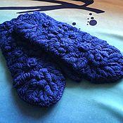 Аксессуары ручной работы. Ярмарка Мастеров - ручная работа Варежки с ручной вышивкой Синева. Handmade.