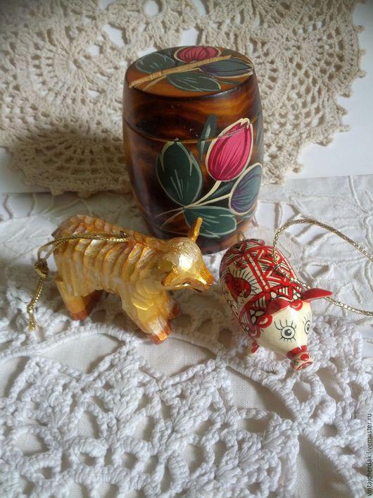 Винтажные куклы и игрушки. Ярмарка Мастеров - ручная работа. Купить Копилка , овечка, свинка и яйцо дерево винтаж. Handmade. Комбинированный