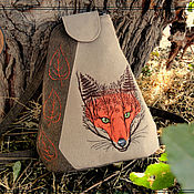 Сумки и аксессуары handmade. Livemaster - original item Textile backpack My lady of the forest. Handmade.