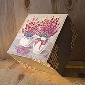 Для дома и интерьера ручной работы. Ярмарка Мастеров - ручная работа Шкатулка для кухни Лаванда в вазе для чая. Handmade.