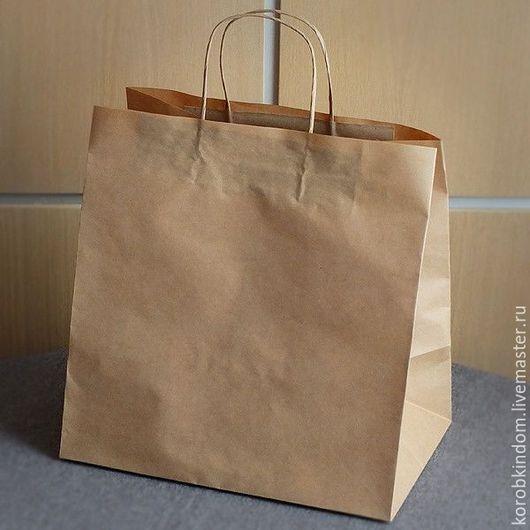 Упаковка ручной работы. Ярмарка Мастеров - ручная работа. Купить Крафт-пакет 30х30х20 с ручками из бумажного шпагата. Handmade. Пакет