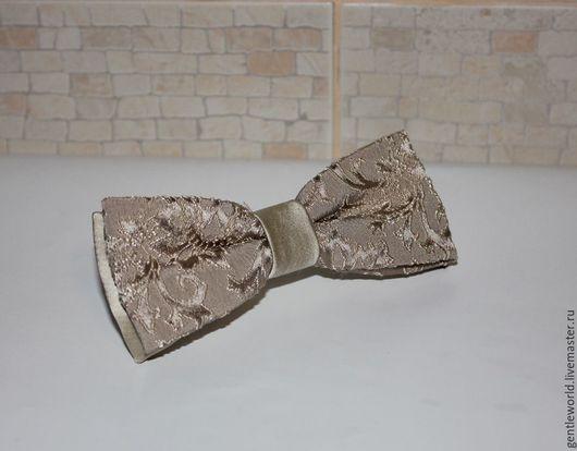 """Галстуки, бабочки ручной работы. Ярмарка Мастеров - ручная работа. Купить галстук бабочка """"Величество"""". Handmade. Бежевый"""
