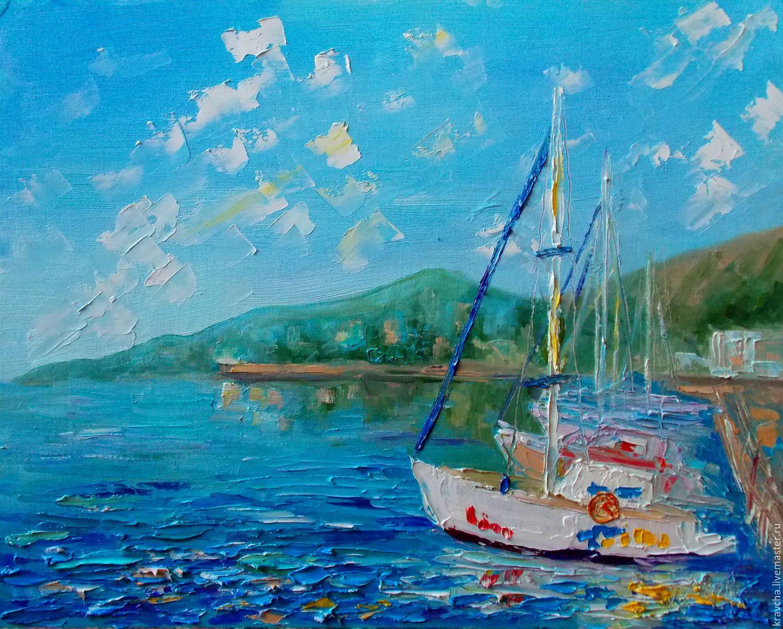 Картина маслом Мечты о море, Пейзаж, Россошь, Фото №1