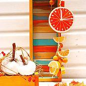 Для дома и интерьера ручной работы. Ярмарка Мастеров - ручная работа Апельсиновые часы. Handmade.