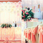 Свадебный салон ручной работы. Ярмарка Мастеров - ручная работа Оформление свадьбы в персиковых оттенках. Handmade.