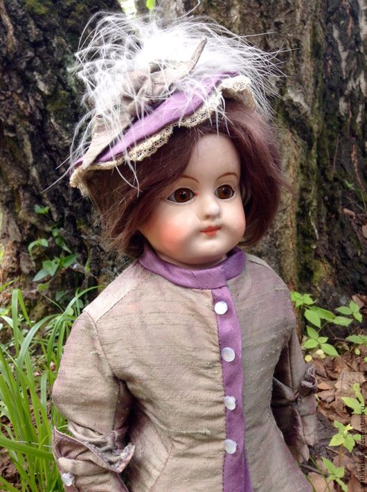 Винтажные куклы и игрушки. Ярмарка Мастеров - ручная работа. Купить Красивая модная кукла из папье маше. Handmade. Комбинированный