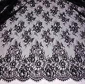 Ткани ручной работы. Ярмарка Мастеров - ручная работа кружево  шантильи черное  и белое 150Х300 см , В 1. Handmade.