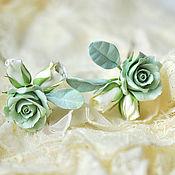 Украшения ручной работы. Ярмарка Мастеров - ручная работа Шпильки с розами. Handmade.