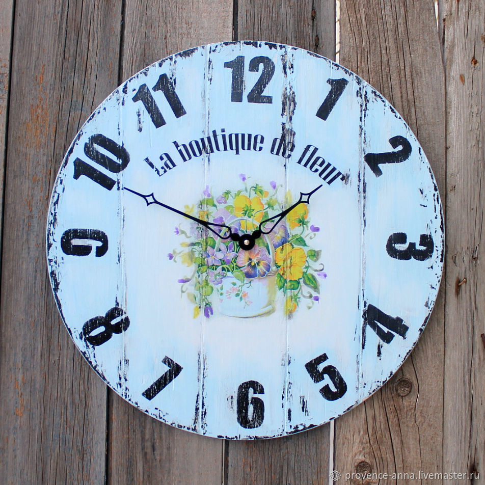 Wall Clock Flower Shop Shop Online On Livemaster With Shipping