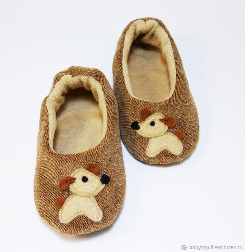 """Детские домашние тапочки """"Щенок"""", домашняя обувь, Тапочки, Курганинск,  Фото №1"""
