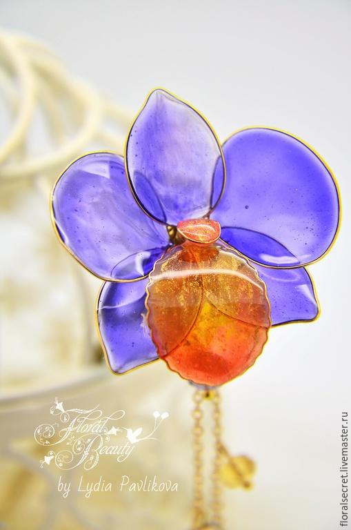 Украшения с орхидеями. Автор-Лидия Павликова (бренд-Floral beauty).