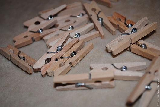 Куклы и игрушки ручной работы. Ярмарка Мастеров - ручная работа. Купить Прищепки кукольные. Handmade. Бежевый, прищепка миниатюрная