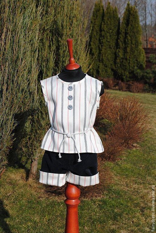 Одежда для девочек, ручной работы. Ярмарка Мастеров - ручная работа. Купить Комплект «В отпуск»: блузка и шорты. Handmade.