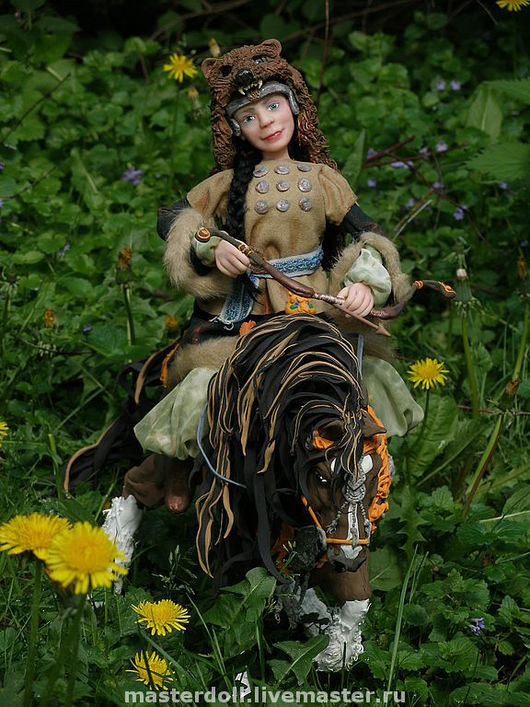 """Коллекционные куклы ручной работы. Ярмарка Мастеров - ручная работа. Купить Авторская Кукла """"Зевана"""" из полимерной глины. Handmade. лошадь"""