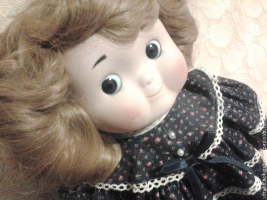 Винтажные куклы и игрушки. Ярмарка Мастеров - ручная работа. Купить винтаж фарфоровая кукла музыкальная. Handmade. Бледно-розовый