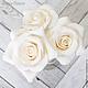 Заколки ручной работы. Заказать Комплект свадебных шпилек с розами - Белые (3 шт). Tanya Flower. Ярмарка Мастеров.