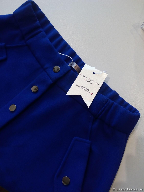 Ярко синяя юбка на кнопках, Юбки, Киев,  Фото №1