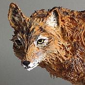 """Для дома и интерьера ручной работы. Ярмарка Мастеров - ручная работа фигурка """"Степной волк"""" (статуэтка волка). Handmade."""