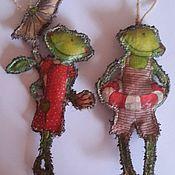 """Подарки к праздникам ручной работы. Ярмарка Мастеров - ручная работа Набор  игрушек """"Лягушачий променад"""". Handmade."""