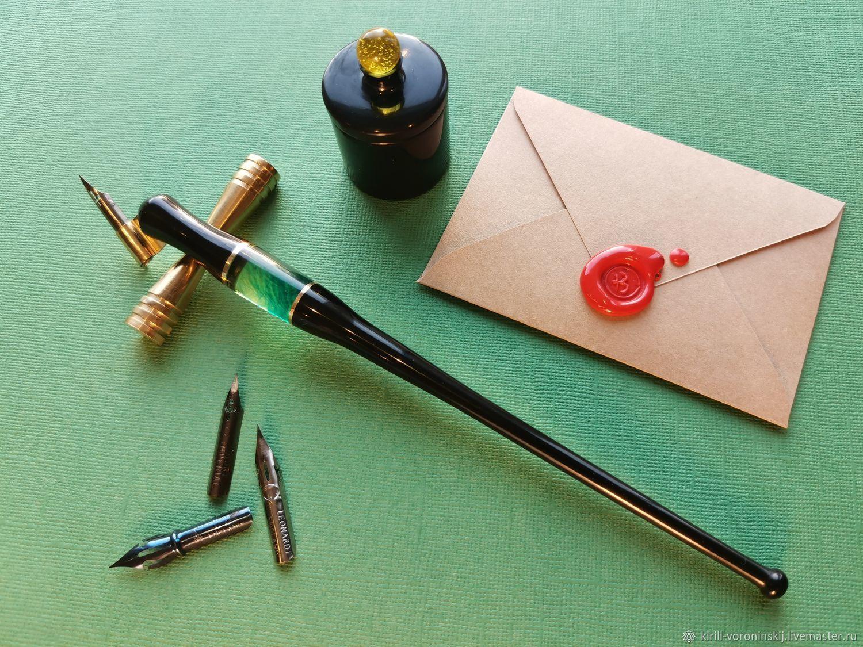 Косой держатель для пера ручной работы из эбонита, Ручки, Москва,  Фото №1