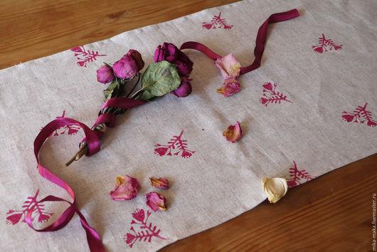 Кухня ручной работы. Ярмарка Мастеров - ручная работа. Купить Полотенце цветик. Handmade. Фуксия, цветок, полотенце, набойка
