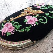 Сумки и аксессуары handmade. Livemaster - original item Velvet eyeglass case with clasp