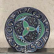 Тарелки ручной работы. Ярмарка Мастеров - ручная работа Тарелка декоративная. Handmade.
