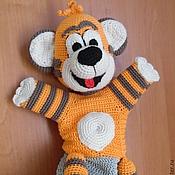 """Куклы и игрушки ручной работы. Ярмарка Мастеров - ручная работа Тигренок """"По дороге с облаками"""", перчаточная кукла. Handmade."""