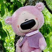 Куклы и игрушки ручной работы. Ярмарка Мастеров - ручная работа Большой фиолетовый мишка. Handmade.