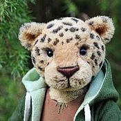 Куклы и игрушки ручной работы. Ярмарка Мастеров - ручная работа Игрушка леопард (кот) - друг мишек Тедди авторская интерьерная игрушка. Handmade.