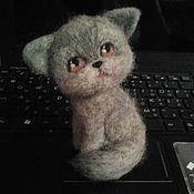 """Куклы и игрушки ручной работы. Ярмарка Мастеров - ручная работа фелтинг-игрушка котенок """"Бонька"""". Handmade."""