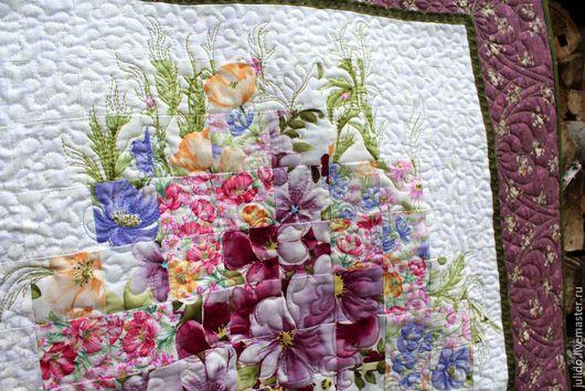 """Картины цветов ручной работы. Ярмарка Мастеров - ручная работа. Купить Квилт  """"Весенний"""". Handmade. Квилт, для дома, текстиль для интерьера"""
