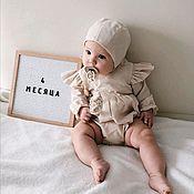 Комплекты одежды ручной работы. Ярмарка Мастеров - ручная работа Льняной ромпер. Handmade.