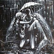Картины ручной работы. Ярмарка Мастеров - ручная работа Зонтик для Ангела. Handmade.