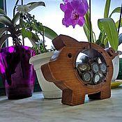 Копилки ручной работы. Ярмарка Мастеров - ручная работа Копилка из дерева. Handmade.