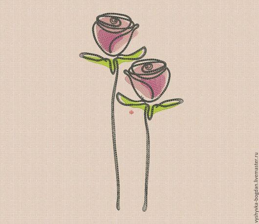Дизайны  для машинной вышивки `Розовые розы bt100`. Очень эффектно смотрятся, легко вышиваются. Созданы под маленькие и большие пялца. вышивальные форматы pes hus jef dst exp vp3 vip xxx.