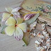 Украшения handmade. Livemaster - original item Fabric flower velvet brooch Paradise. Handmade.