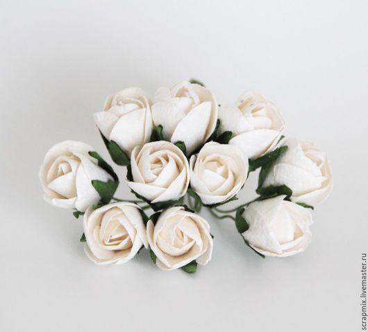 Открытки и скрапбукинг ручной работы. Ярмарка Мастеров - ручная работа. Купить Бутоны роз белые. Handmade. Скрапбукинг, материалы для творчества