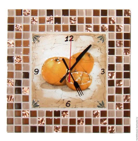"""Часы для дома ручной работы. Ярмарка Мастеров - ручная работа. Купить Часы кухонные """"Апельсины"""". Handmade. Часы настенные"""