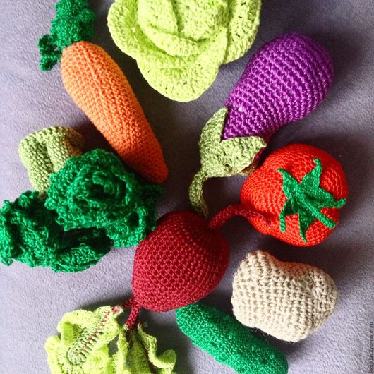 Развивающие игрушки ручной работы. Ярмарка Мастеров - ручная работа. Купить Веселый огород. Handmade. Комбинированный, вязаные игрушки
