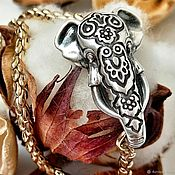 """Браслет из бусин ручной работы. Ярмарка Мастеров - ручная работа Замок """"Индийский слон"""" для колье и браслета. Handmade."""