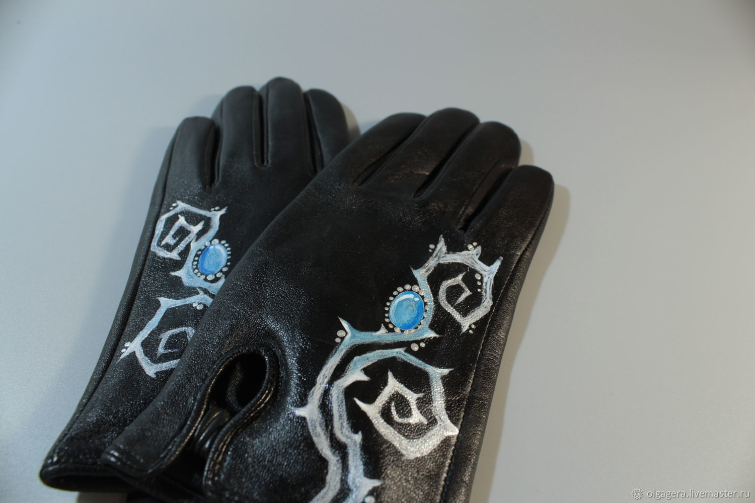 Gloves leather on silk 'the Dreams of Alice', Gloves, Moscow,  Фото №1