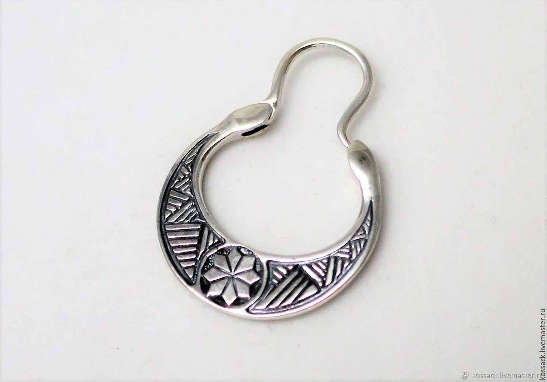 Mens earring alatyr, Earrings, Zaporozhye,  Фото №1