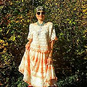 Одежда handmade. Livemaster - original item Set BOHO (skirt, blouse) of cotton lace and yarn (№ 284). Handmade.