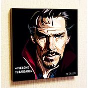 Подарки к праздникам handmade. Livemaster - original item The picture poster in the style of Pop Art Doctor strange. Handmade.