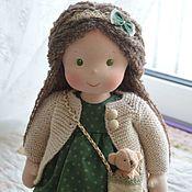 Вальдорфские куклы и звери ручной работы. Ярмарка Мастеров - ручная работа Вальдорфская кукла Зелень и золото. Handmade.