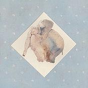 Картины и панно ручной работы. Ярмарка Мастеров - ручная работа слоненок. Handmade.