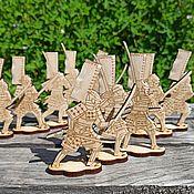Материалы для творчества handmade. Livemaster - original item Figurines for painting: Samurai with a katana. Handmade.