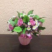 Цветы и флористика handmade. Livemaster - original item Rose chamomile mood. Handmade.