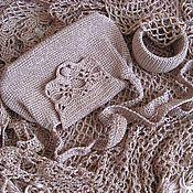 Одежда ручной работы. Ярмарка Мастеров - ручная работа Комплект Золотой песок:  сумочка, браслет.. Handmade.